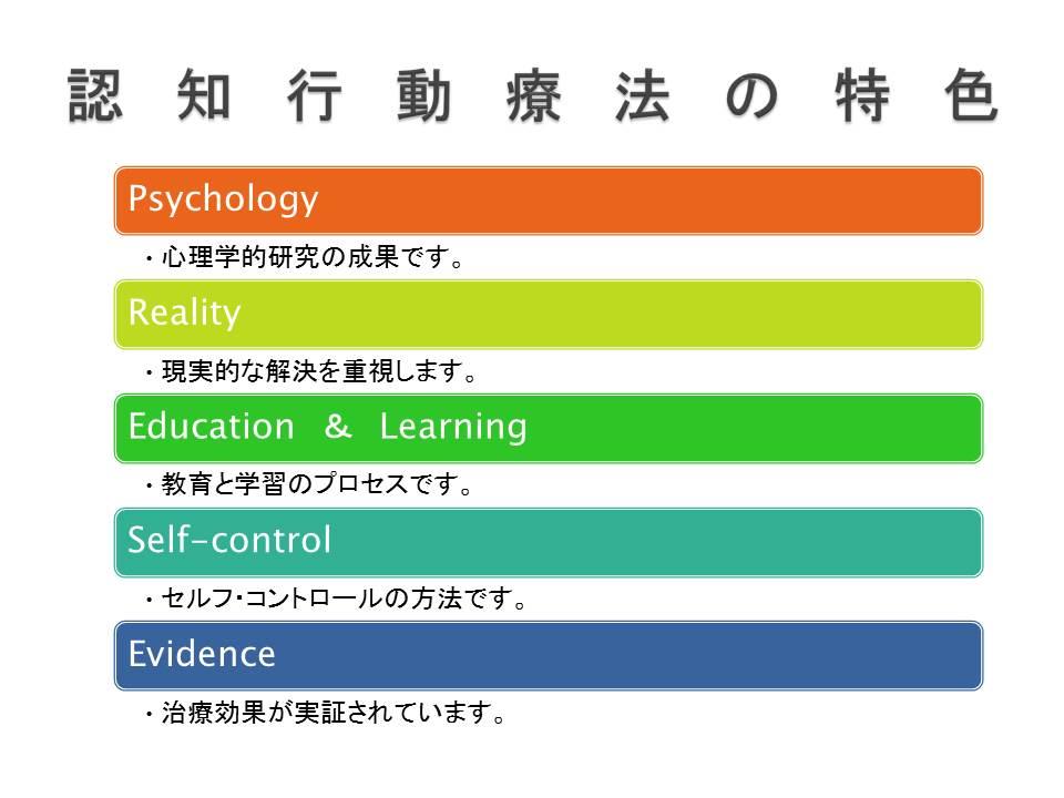 認知行動療法の特色